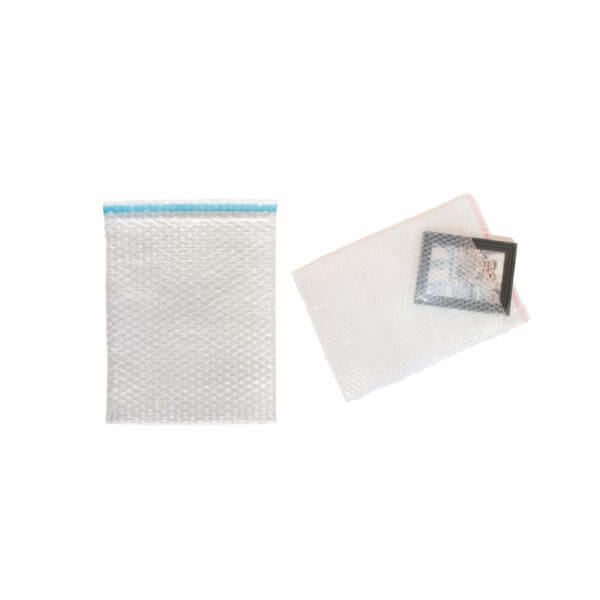 Sachet bulles d'air tricouche 100µ 150x250 mm avec Rabat adhésif de 50 mm