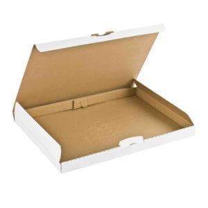 Boîte postale carton plate 255x190x30. Coloris Blanc